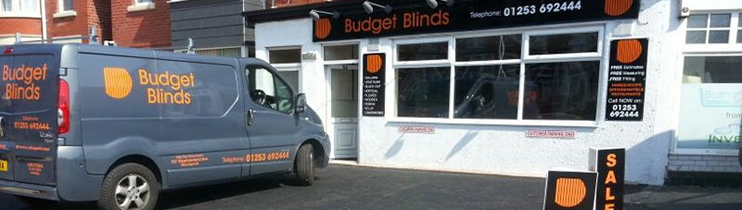 Budget Blinds Blackpool Van
